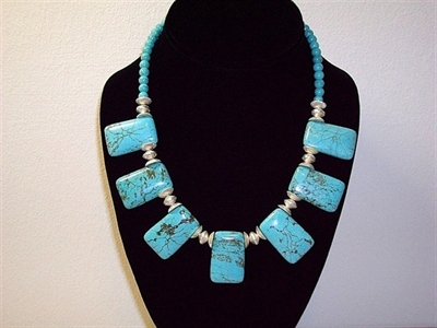 Picture of Blue Howlite and 925 Silver Components
