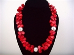 Picture of Red Coral and 925 Silver Components