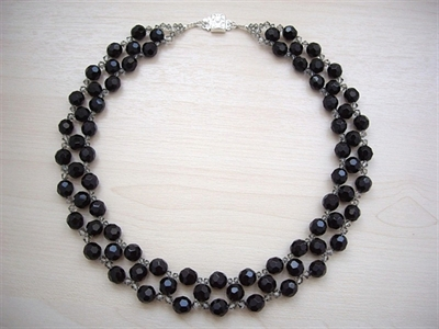 Picture of Black Onyx, Swarovski Crystals and 925 Silver Components