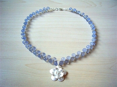 Picture of Blue Chalcedony and 925 Silver Components