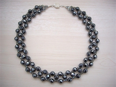 Picture of Hematite, Swarovski Crystals and 925 Silver Components