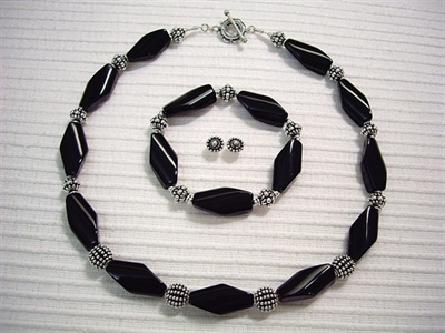 Picture of Black Onyx and 925 Silver Components