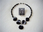 Picture of Black Onyx, Black Agate with 925 Silver Components