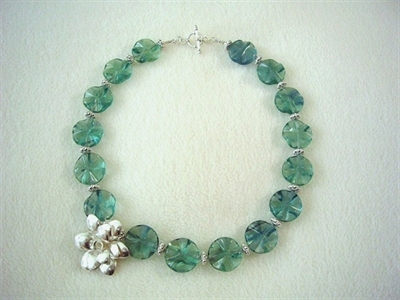 Picture of Green Fluorite and 925 Silver Components