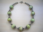 Picture of Green Howlite, Swarovski Crystals and 925 Silver Components