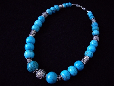 Picture of Blue Hawolite and 925 Silver Components