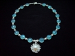 Picture of Blue Chalcedony, Swarovski Crystals and 925 Silver Components
