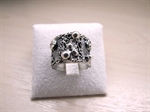 Picture of Handcrafted Ring Art Clay Silver
