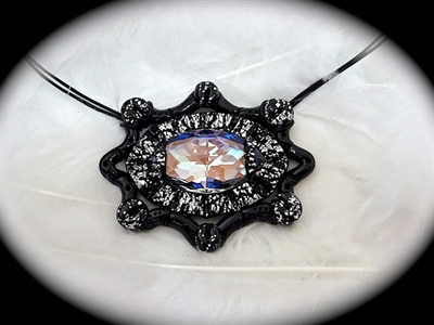 Picture of Polymer clay and Swarovski.