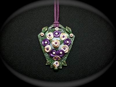 Picture of Polymer clay and glass.