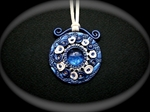 Picture of Polymer clay, Swarovski and glass.