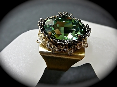 Picture of Swarovski brass ring.
