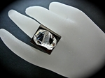 Picture of Swarovski Rhodium ring.