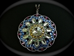 Picture of Swarovski and metal components pendant.
