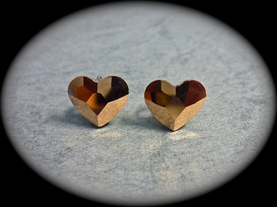 Picture of Swarovski heart earrings