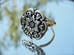 Picture of Art Clay Silver and Cubic Zirconia.