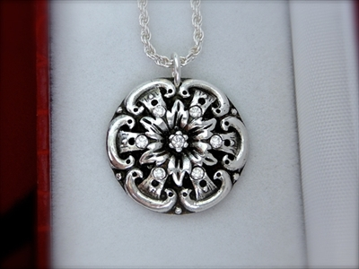 Picture of Art Clay Silver & Cubic Zirconia Pendant.