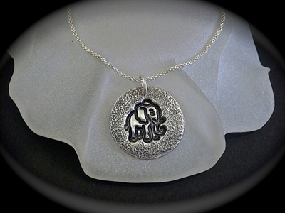 Picture of Art Clay Silver Pendant.