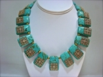 Picture of Set of Howlite Gemstone Necklace and Earrings