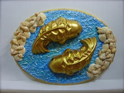Picture of Wall decor - Yamabuki Fish